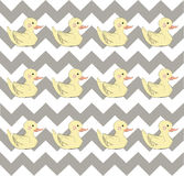 Colorful modern duck pattern Royalty Free Stock Images