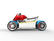 Colorful modern electric quad bike Royalty Free Stock Photography