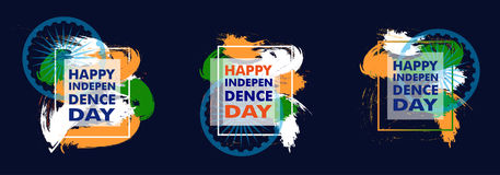 Colorful modern elements design with place for text for Indian. Colorful modern elements design with place for text for Indian Independence Day 15 th august Royalty Free Stock Photography