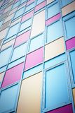 Colorful modern facade. Colorful facade of modern building as background Stock Image