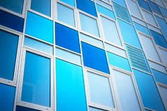 Colorful modern facade. Colorful facade of modern building as background Stock Photography
