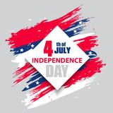 Colorful modern frame for independence day USA 4th july. Set. Dynamic design elements for a flyer, sale, brochures, presentations,. Party etc. Vector Royalty Free Stock Photography