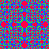 Colorful Modern Futuristic Seamless Pattern Stock Images