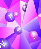 Colorful modern geometric abstract pattern or mosaic in trendy bright purple violet colors. Beautiful pink blue design vector illustration
