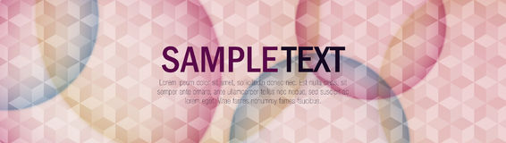 Colorful Modern Geometric Header Stock Image