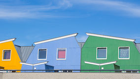 Colorful modern houses Stock Images
