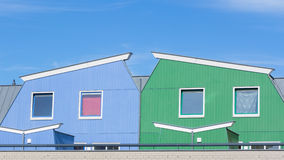 Colorful modern houses Royalty Free Stock Photos