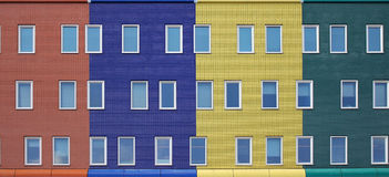 Colorful modern housing Royalty Free Stock Photos