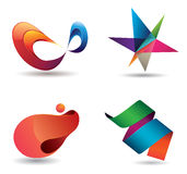 Colorful Modern Icons Stock Images