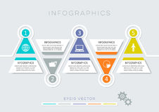 Colorful modern infographic options. Colorful modern options banners infographic vector design template vector illustration