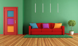 Colorful modern interior Stock Image