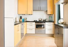 Colorful modern kitchen - horizontal Royalty Free Stock Images