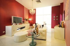 Colorful, modern living room 03 Stock Image