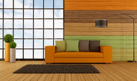 Colorful modern living room Royalty Free Stock Image