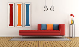 Colorful modern living room Stock Photography