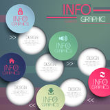 Colorful modern paper circle infographic elements Royalty Free Stock Image