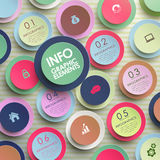 Colorful modern paper circle infographic elements Royalty Free Stock Photo