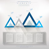 Colorful modern paper triangle abstract infographic Royalty Free Stock Photos
