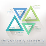 Colorful modern paper triangle abstract infographic Royalty Free Stock Image