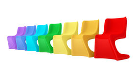 Colorful modern plastic chairs Royalty Free Stock Images