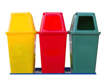 Colorful Modern Recycle Bins Royalty Free Stock Photo