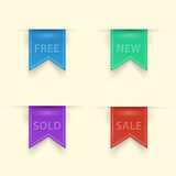 Colorful modern sale badge collection Royalty Free Stock Images