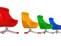 Colorful modern stylish chairs Royalty Free Stock Images