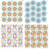 Colorful modern texture collection Stock Photos