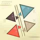 Colorful modern triangle abstract flow chart infographic Stock Image