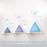Colorful modern triangle abstract infographic elements Royalty Free Stock Photography