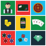 Colorful modern vector flat icons set. Quality Royalty Free Stock Image