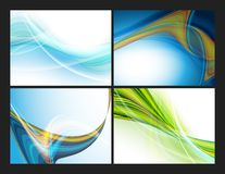 Colorful modern vector templates set Stock Photography