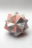 Colorful modular origami ball Stock Photos