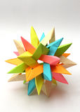 Colorful Modular origami star Stock Images