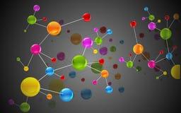 Colorful Molecule Stock Image