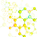 Colorful molecule bond background (vector) Stock Photos