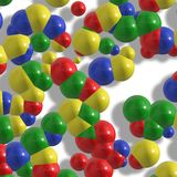 Colorful molecules Stock Image