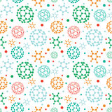 Colorful molecules seamless pattern background Stock Photo
