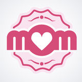 Colorful Mom Emblem. Vector Design Elements For Greeting Card and Other Print Templates. Colorful Mom Emblem. Vector Design Elements For Greeting Card and Other Stock Photography