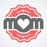 Colorful Mom Emblem. Vector Design Elements For Greeting Card and Other Print Templates. Colorful Mom Emblem. Vector Design Elements For Greeting Card and Other royalty free illustration