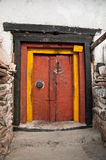 Colorful monastery door Stock Photos