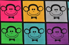 Colorful monkeys Royalty Free Stock Images