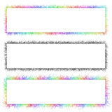 Colorful and monochrome sketch banner frame set. Colorful and monochrome sketch banner frame design set Royalty Free Stock Image