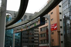 Colorful Monorail Train in Chiba Royalty Free Stock Photo