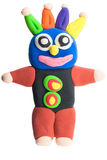 Colorful monster made from plasticine Royalty Free Stock Photos