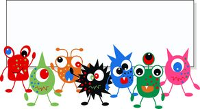 Colorful monsters royalty free stock image
