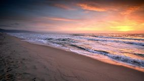 Colorful morning at the Black Sea coast stock video footage