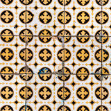 Colorful Moroccan, Portuguese tiles, Azulejo, ornaments. Can be. Used for wallpaper, poster, web design Royalty Free Stock Image