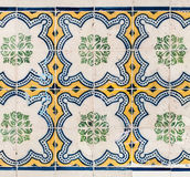 Colorful Moroccan, Portuguese tiles, Azulejo, ornaments. Can be. Used for wallpaper, poster, web design Stock Photo