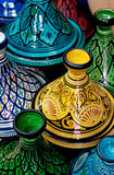 Colorful Moroccan pots Royalty Free Stock Photography